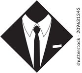 manager suit silhouette. hand...   Shutterstock .eps vector #209631343