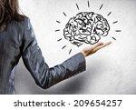 rear view of businesswoman... | Shutterstock . vector #209654257