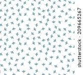 small vector flowers seamless...   Shutterstock .eps vector #209665267