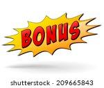 vector illustration of bonus...