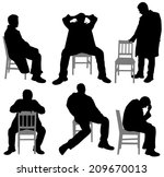 man on chair | Shutterstock .eps vector #209670013