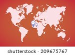 ebola world map illustration... | Shutterstock .eps vector #209675767