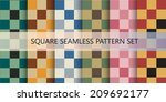 squares seamless pattern.... | Shutterstock .eps vector #209692177