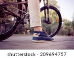 close up of a man with athletic ... | Shutterstock . vector #209694757