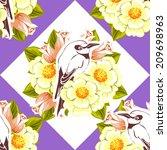 abstract elegance seamless... | Shutterstock . vector #209698963