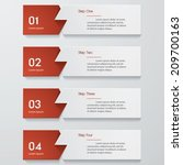 design clean number banners... | Shutterstock .eps vector #209700163