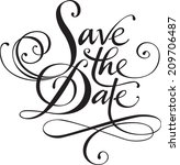 save the date | Shutterstock .eps vector #209706487