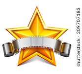 movie star. movie tape and... | Shutterstock .eps vector #209707183