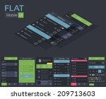 flat ui design cincept. vector...