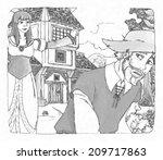 cartoon fairy tale  ... | Shutterstock . vector #209717863