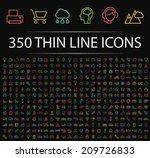 set of 350 minimal modern neon... | Shutterstock .eps vector #209726833
