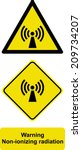 warning non ionizing radiation  | Shutterstock .eps vector #209734207