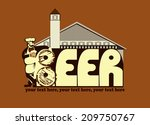 beer.beer menu design contains... | Shutterstock .eps vector #209750767
