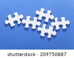 an image of jigsaw puzzle | Shutterstock . vector #209750887