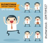 set of businessman characters... | Shutterstock .eps vector #209759527