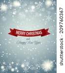 christmas snowflakes background ... | Shutterstock .eps vector #209760367