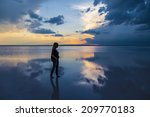walking on water | Shutterstock . vector #209770183