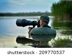 wildlife photographer outdoor ... | Shutterstock . vector #209770537