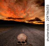 Halloween Background   Skull O...
