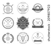 golf labels icons and emblems...   Shutterstock .eps vector #209807923