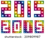 happy new 2015 year with led... | Shutterstock .eps vector #209809987