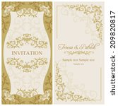 antique baroque wedding... | Shutterstock .eps vector #209820817