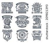 rugby  motoclub  longboard... | Shutterstock .eps vector #209821393