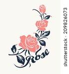 rose motif flower design... | Shutterstock .eps vector #209826073