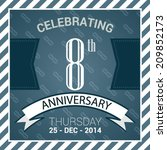 8th anniversary poster  ... | Shutterstock .eps vector #209852173