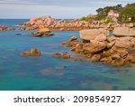 pink granite coast  | Shutterstock . vector #209854927