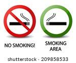 no smoking and smoking area... | Shutterstock .eps vector #209858533
