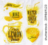 pointer drawn pour lemonade... | Shutterstock .eps vector #209869123