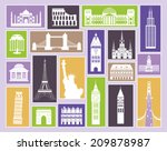 collection of travel icons.... | Shutterstock .eps vector #209878987