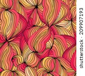 seamless abstract hand drawn... | Shutterstock .eps vector #209907193
