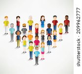 different social groups of... | Shutterstock .eps vector #209962777