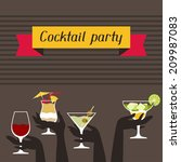 Party Invitation With Alcohol...
