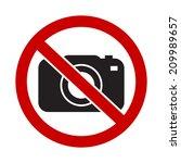 camera not allowed symbol ... | Shutterstock .eps vector #209989657