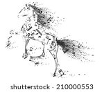 vector illustration of horse... | Shutterstock .eps vector #210000553