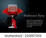 vector of halloween party... | Shutterstock .eps vector #210007243