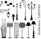 Vintage And Modern  Lamp Vecto...