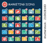 business and marketing icons... | Shutterstock .eps vector #210028183