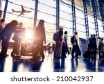 Small photo of Passengers in an airport
