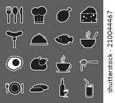 food icons set | Shutterstock .eps vector #210044467
