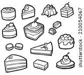vector set of dessert