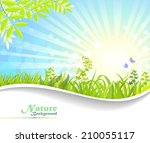 nature fantasy  the morning aura | Shutterstock .eps vector #210055117
