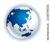 vector globe. asia side | Shutterstock .eps vector #210070033