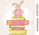 baby bunny shower or arrival... | Shutterstock .eps vector #210070237