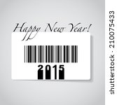 happy new year 2014 on barcode  ... | Shutterstock .eps vector #210075433