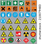 collection of 38 safety and... | Shutterstock .eps vector #210079483