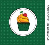 tasty muffin or cupcake | Shutterstock .eps vector #210082027
